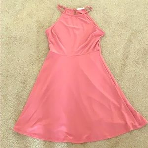 Halter dress pink